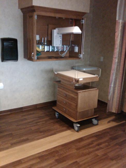 Standard Warmer Cabinet With Dropside Bassinet